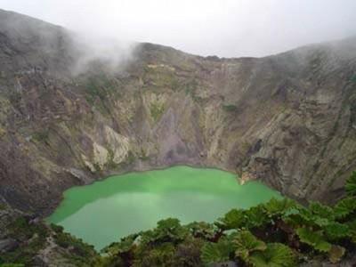Le cratère du volcan Irazú de la province de Cartago, Costa Rica